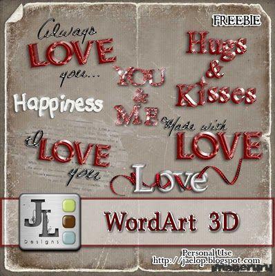 Скрап WordArt 3D