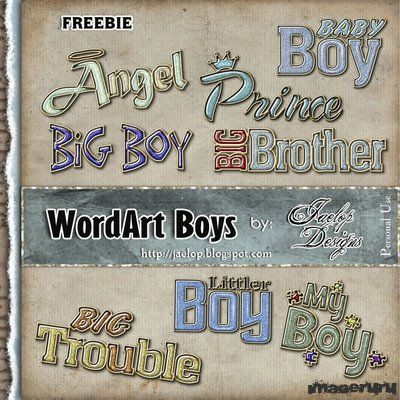 Скрап WordArt Boys
