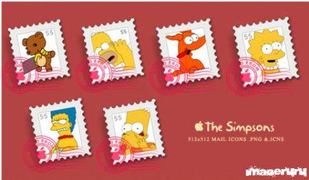 Почтовые марки Симпсоны