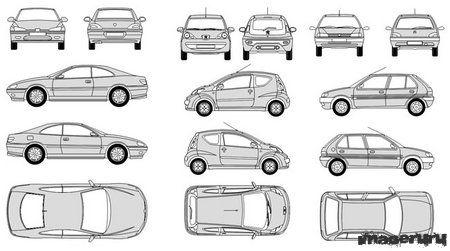 Автомобили Пежо в формате CorelDRAW
