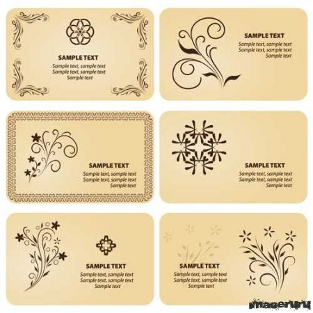 Винтажные визитки