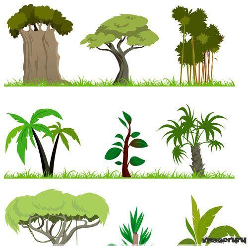 мультяшные картинки деревья