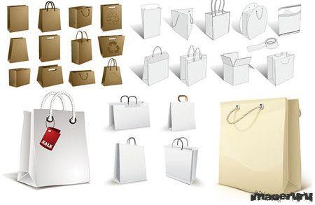 Сумки и пакеты - векторные заготовки