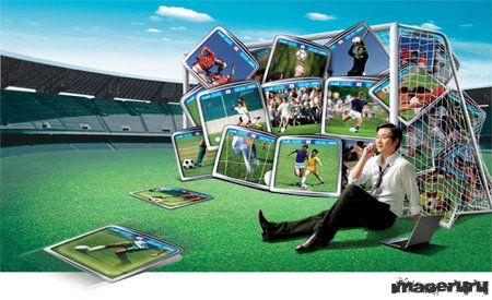 Шаблон PSD на футбольную тему
