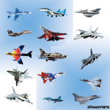 Самолёты, истребители в PSD