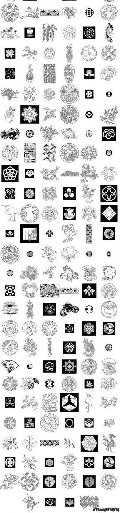 Японские векторные орнаменты