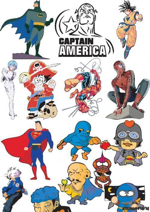Супергерои из комиксов бэтмен