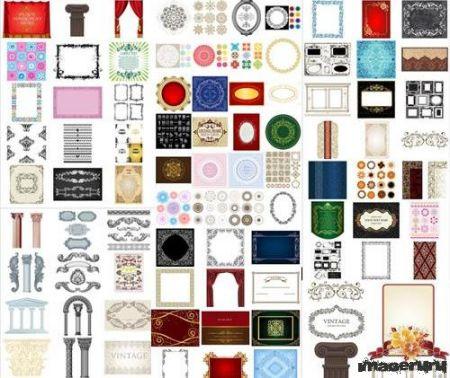 Огромная коллекция векторных рамок