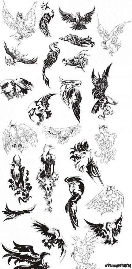 Векторные татуировки - орлы