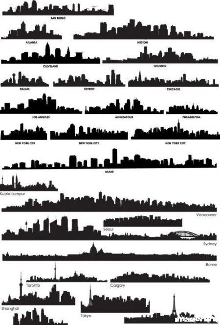 Силуэты крупнейших городов мира