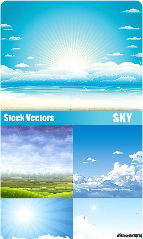 Небо для использования в дизайне