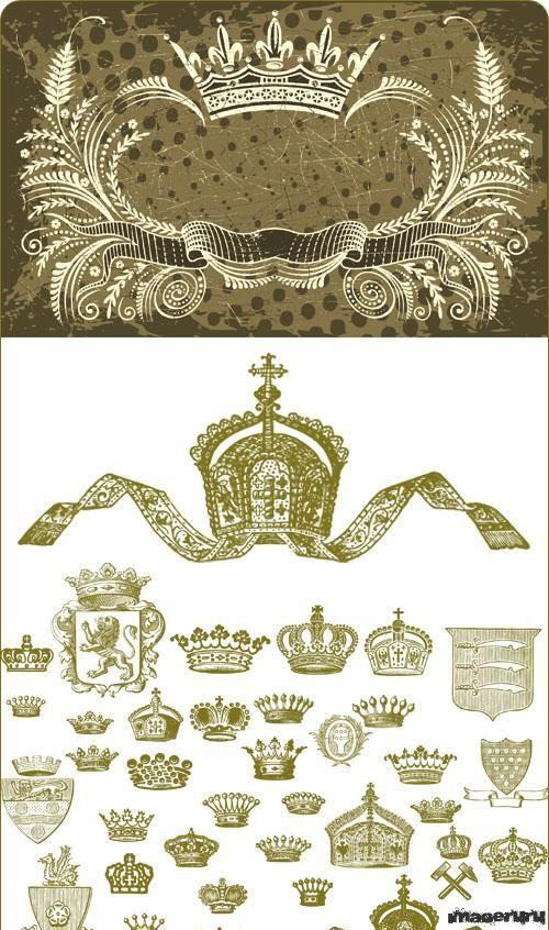 Векторная графика гербы и короны