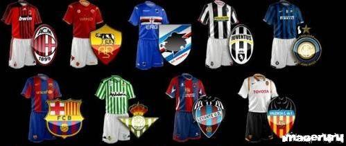 Иконки футбольных клубов