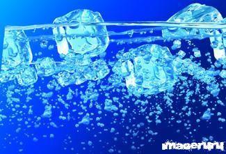 Лёд в воде