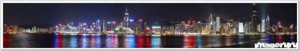 Панорамные ночные фото городов