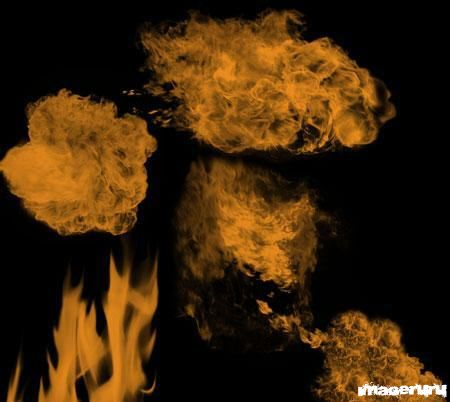 Пламя - кисти для фотошоп