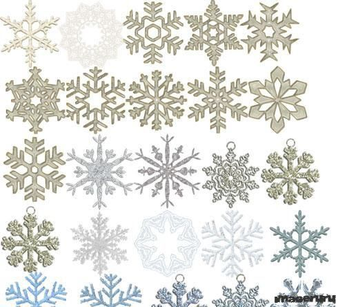 Снежинки PNG