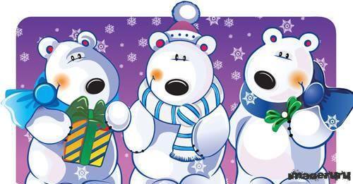 Забавные полярные медведи