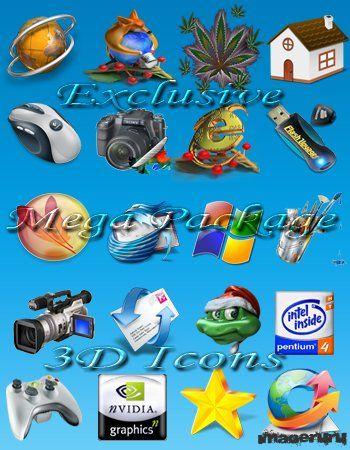Новые 3D иконки