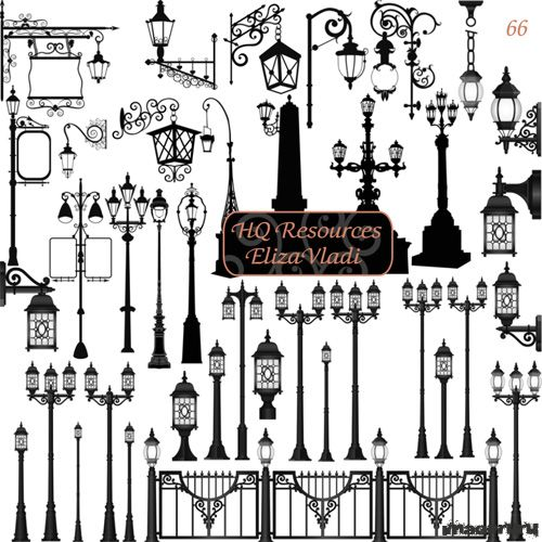 Уличные фонарные столбы
