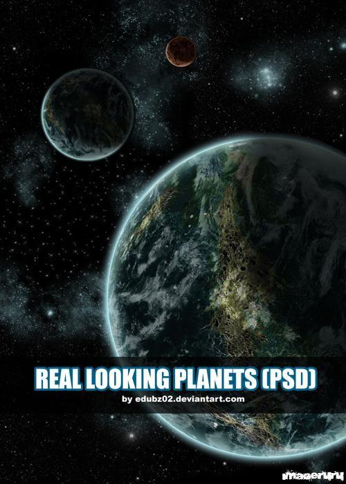 Планеты в PSD формате