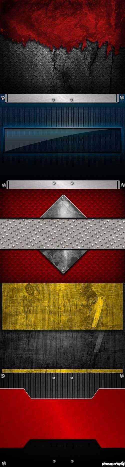 Коллекция металлических фонов