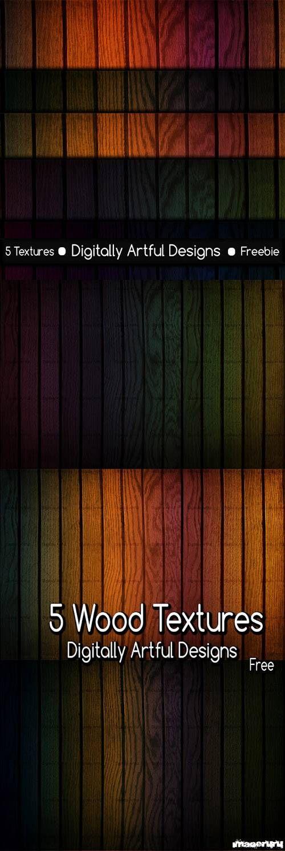 Пять деревянных текстур