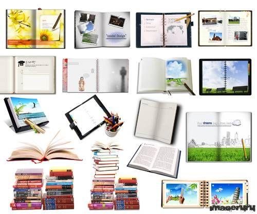 Школьные учебники и блокноты