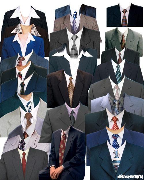 Мужские и женские костюмы - шаблоны для фото