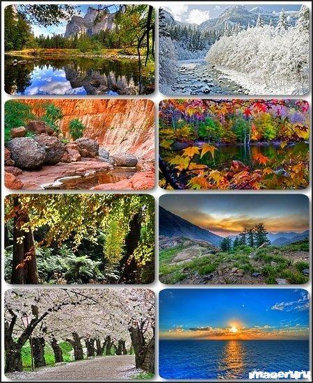 Красивые природные фоны