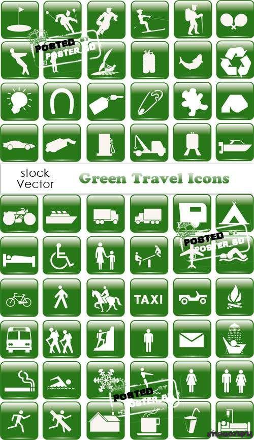 Зелёные векторные иконки