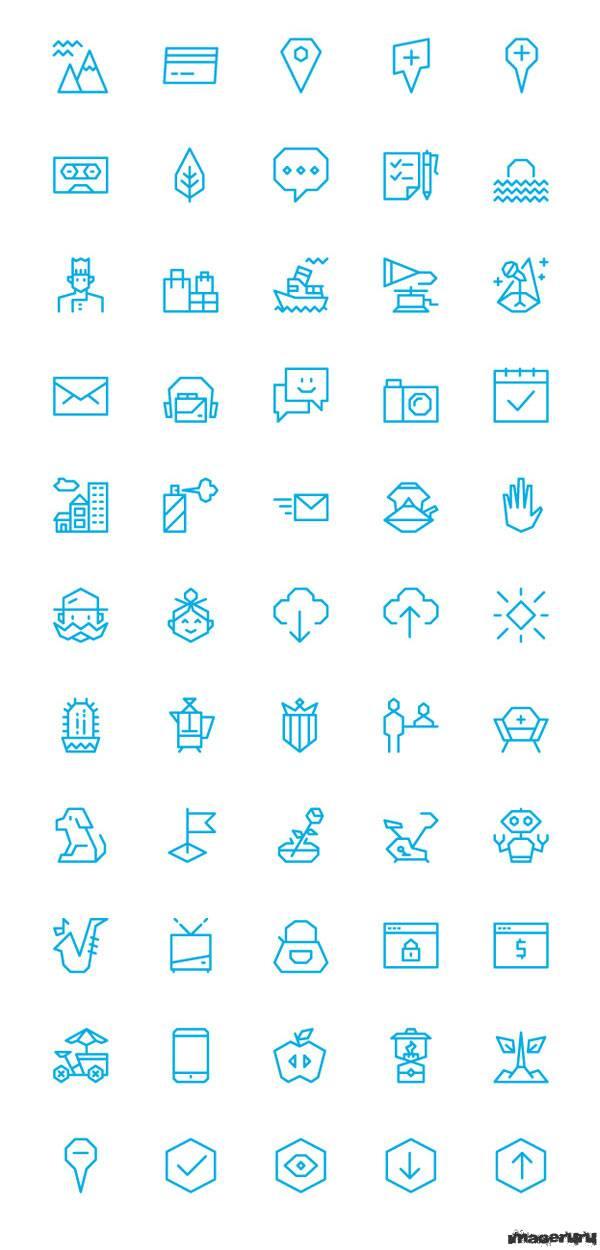 100 иконок в едином стиле