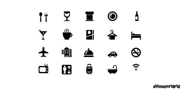 Иконки гостиничного сервиса