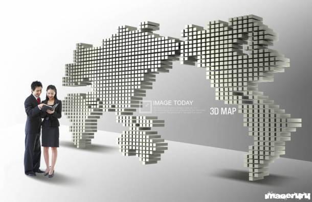 Трехмерная карта мира
