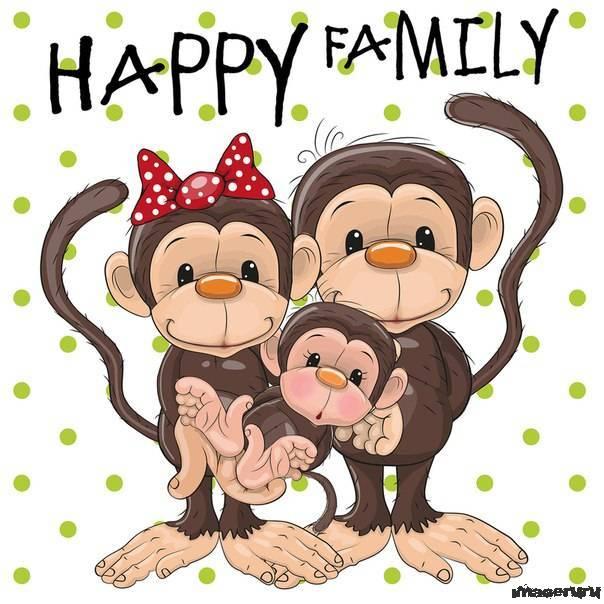 Милые обезьянки