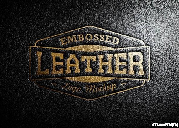 Шаблон логотипа из тисненой кожи