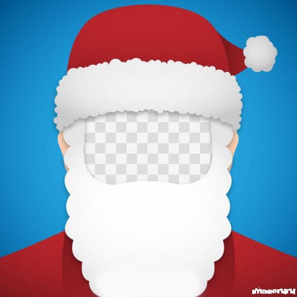 Векторный шаблон Деда Мороза