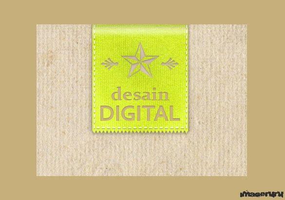 Логотип из ткани