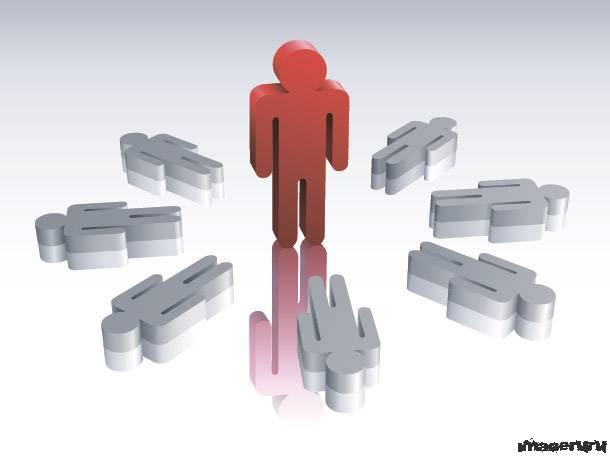 Схематичные человечки без лица