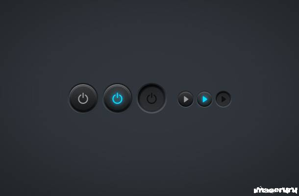 Кнопки power и play