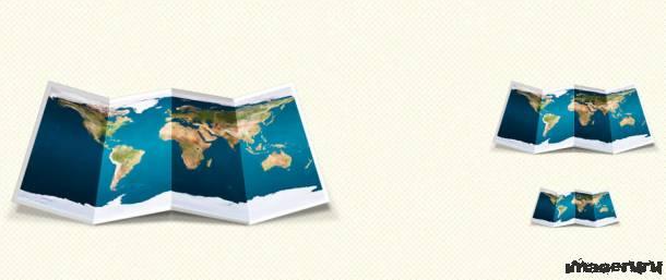 Складная карта мира