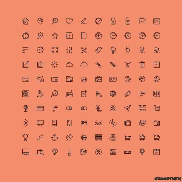 100 профессиональных иконок