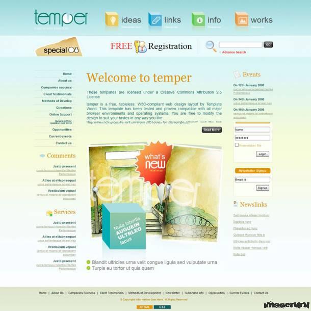 Шаблон для персонального сайта
