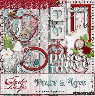 Скрап PEACE & LOVE