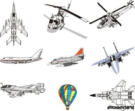 Самолеты, вертолеты, воздушные шары