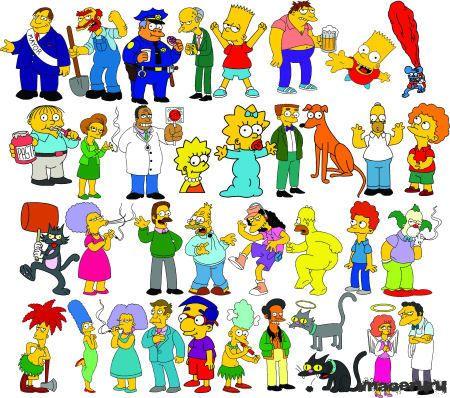 Симпсоны и другие герои мультфильма