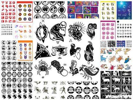 Гороскоп - векторные иконки