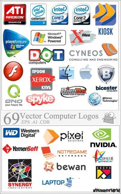 Логотипы производителей компьютеров