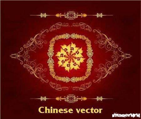Китайские векторные орнаменты