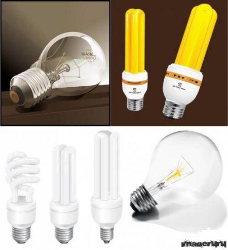 Лампы накаливания в векторе